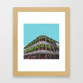 Hanging Baskets of Royal Street, New Orleans Framed Art Print