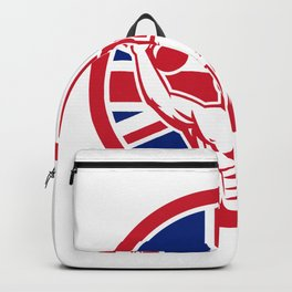 British Physical Fitness Union Jack Flag Icon Backpack