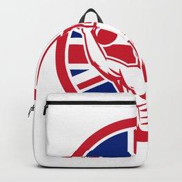 British Physical Fitness Union Jack Flag Icon Backpack
