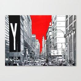 New York, traffic jam. Canvas Print