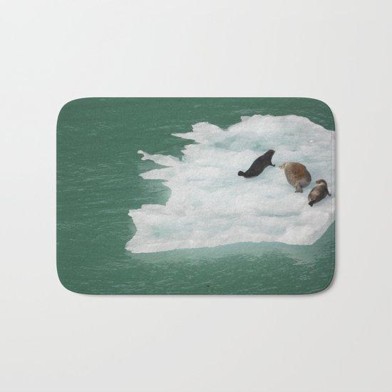 Seals on an Iceberg Bath Mat