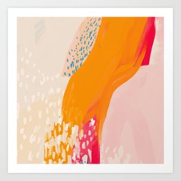 The Abstract Shape Of Spring Art Print