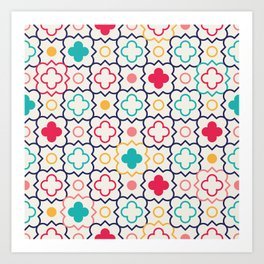Cute Eastern Pattern Art Print