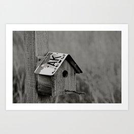 Alaskan Birdhouse Art Print