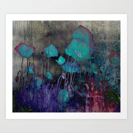 Poppies Abstract Art Print