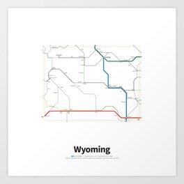 Highways of the USA – Wyoming Art Print