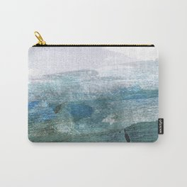 Blue and White Abstract Seascape Carry-All Pouch