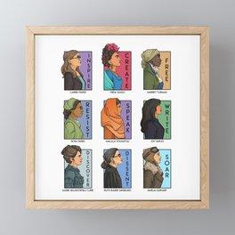 She Series - Real Women Collage Version 1 Framed Mini Art Print