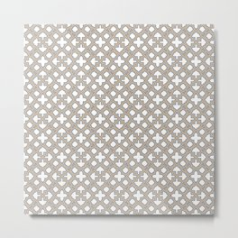 Geometric Pattern - Oriental Design  Metal Print