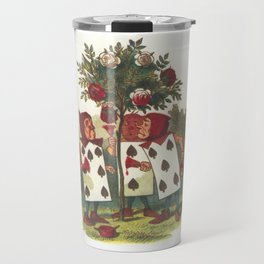Painting the roses red Travel Mug