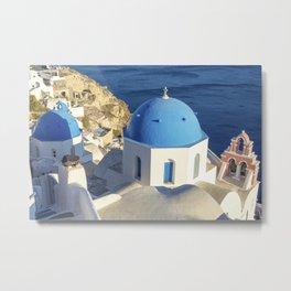 Santorini, Greece Metal Print