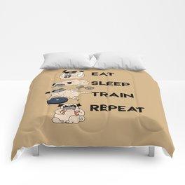 Eat Sleep Train Repeat Comforters