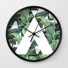 Banana Leaf Love Wall Clock