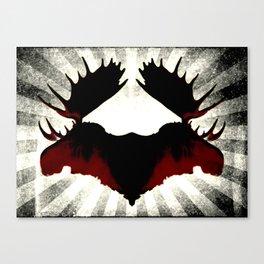 Moose Heads Canvas Print