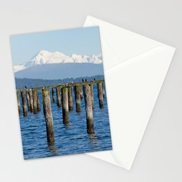 MOUNT BAKER KOMA KULSHAN AND OLD PILINGS  Stationery Cards
