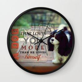 A Dog That Loves You Wall Clock
