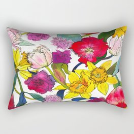 Tulips & Daffodils  Rectangular Pillow