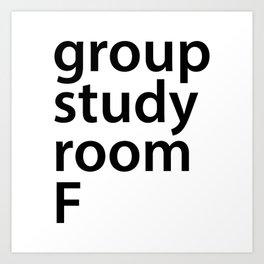 Group study room F Art Print