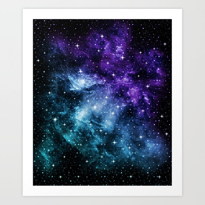 Purple Teal Galaxy Nebula Dream #1 #decor #art #society6 Kunstdrucke