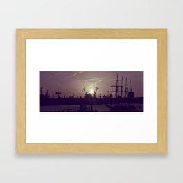 Hamburg Harbor - Small Framed Art Print