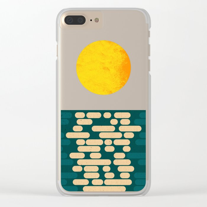 Sun Over The Sea - Afternoon Clear iPhone Case
