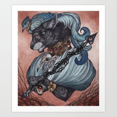 Jack of Spades art print Art Print