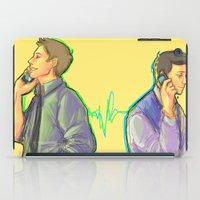 destiel iPad Cases featuring Destiel: One Call Away by psych0tastic