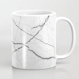 preppy minimalist modern chic grey white marble Coffee Mug