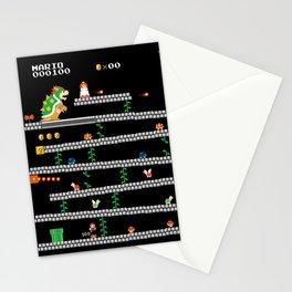 Super Mario x Donkey Kong level mockup Stationery Cards