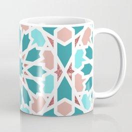 Geometric Arabic Pattern in Red Sea colors Coffee Mug