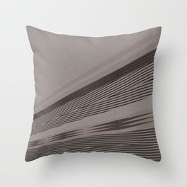 Abstract asymmetrical pattern in beige tones . Throw Pillow