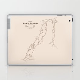 1853 Map of Lake George (sepia) Laptop & iPad Skin