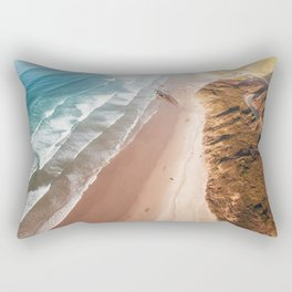 Beach from above Rectangular Pillow