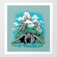 The Mountain Hermit  Art Print