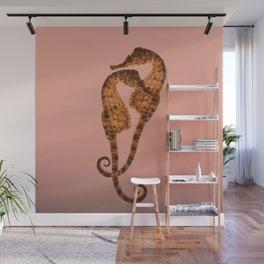 Sea horse in love Wall Mural