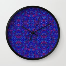 """NeonBlue Peace Rose"" by surrealpete Wall Clock"