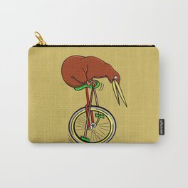 Kiwi Riding A Unicycle Carry-All Pouch