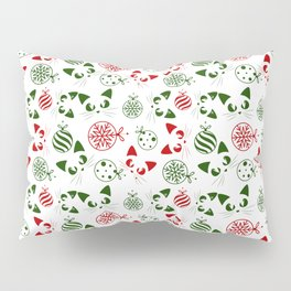 Christmas Cats and Ornaments Pillow Sham