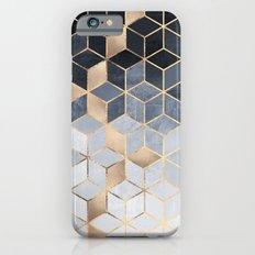 Soft Blue Gradient Cubes iPhone 6 Slim Case