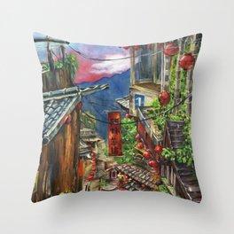 Jiufen Throw Pillow