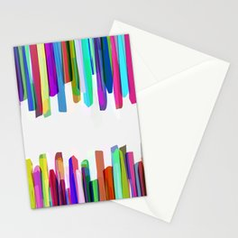 Colorful Stripes 3 Stationery Cards