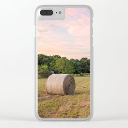 Hay field Clear iPhone Case