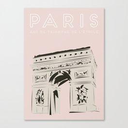 Paris Arc de Triomphe de l'Étoile Travel Poster Canvas Print