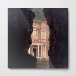 El Khasne, The Treasury Ruins of Petra by Frederic Edwin Church Metal Print