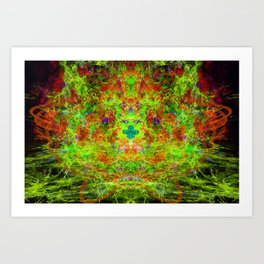 Fire Breather (Acid Breath) Art Print