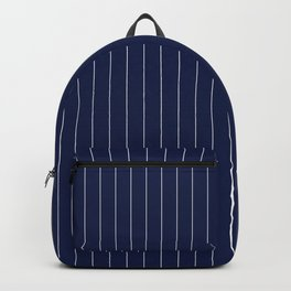 Navy Blue Pinstripes Line Backpack