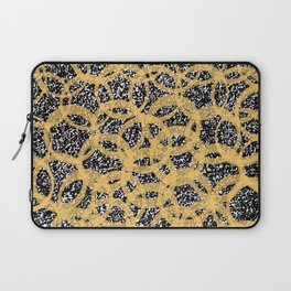 Abstract Beehive Yellow & Black Pattern Laptop Sleeve