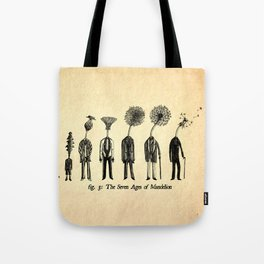 The Seven Ages of Mandelion Tote Bag