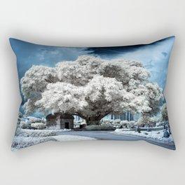 Infrared Blue Rectangular Pillow