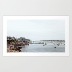 Massachusetts Fishing Village Art Print
